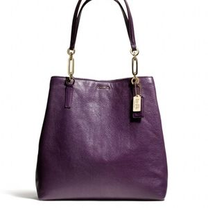 Coach Madison Leather North/South Violet Purse